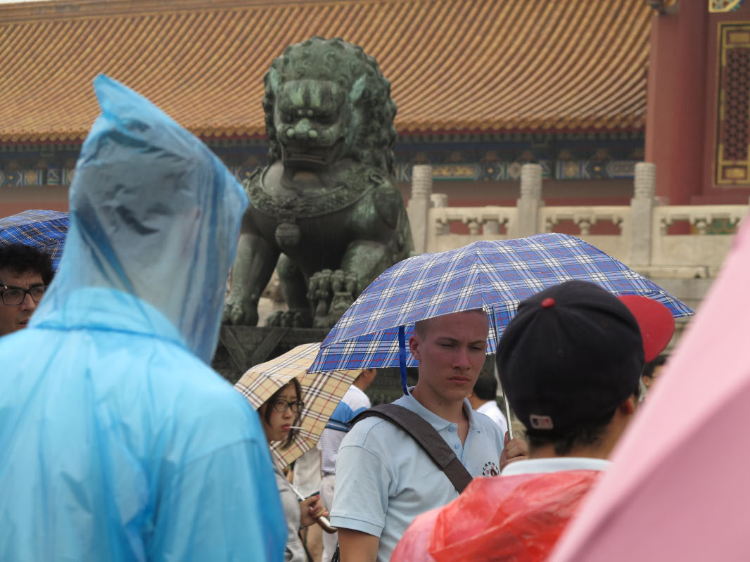 In the Forbidden City on a Rainy day, China Camp 2012